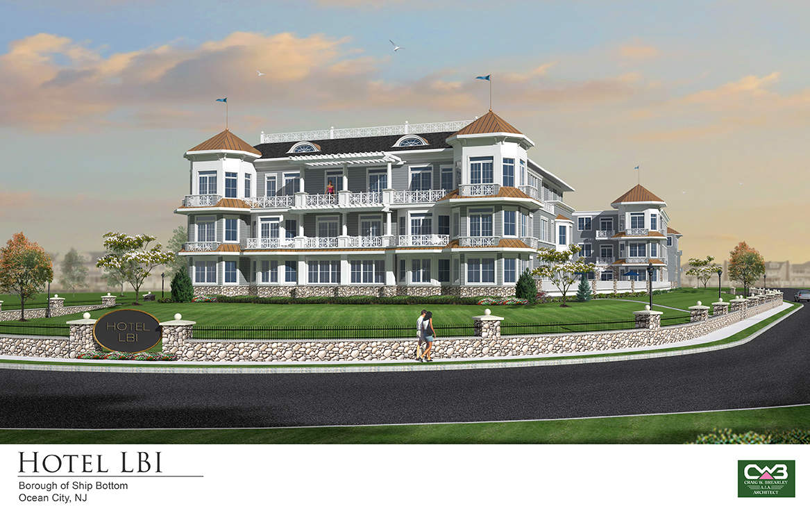 Hotel LBI at the Causeway Entrance to the Island About to Begin Construction